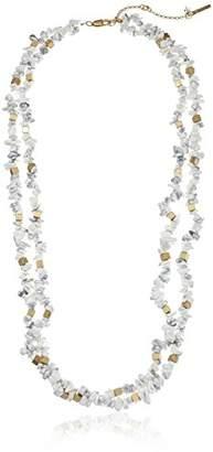 "Kenneth Cole New York Palm Desert"" Semiprecious Chip Bead Multi-Row Long Necklace"