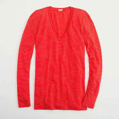 J.Crew Factory Factory vintage cotton long-sleeve tee in thin stripe