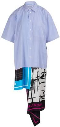 Balenciaga Scarf print shirt dress