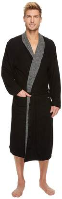 Kenneth Cole Reaction Cozy Sweater Robe with Reversible Stripe Men's Robe