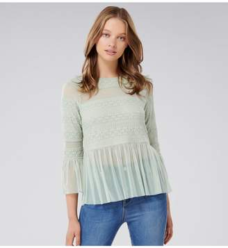 Ever New Olivia Lace Tulle Paneled Top