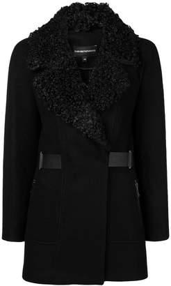 Emporio Armani furry collar jacket