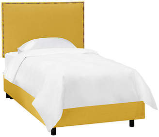 One Kings Lane Loren Kids' Bed - Yellow Linen