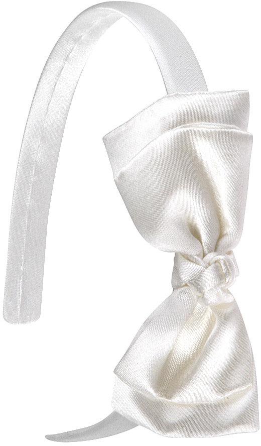 Satin Headband w/Bow