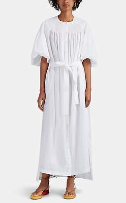 Chloé Women's Cotton Poplin Belted Maxi Dress - White
