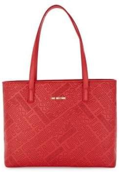 Love Moschino Logo Embossed Tote Bag