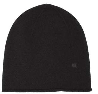 Acne Studios Ribbed Knit Wool Beanie Hat - Womens - Black