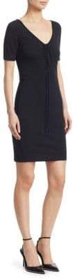 Alexander Wang Ruched Cotton Bodycon Dress