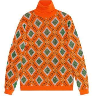 Gucci Wool lurex jacquard sweater