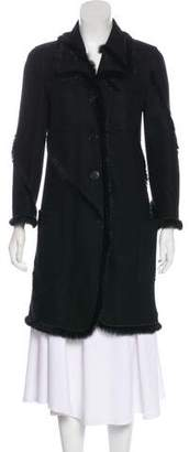 Nina Ricci Fur-Trimmed Wool Coat