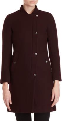 Andrew Marc Asymmetrical Longline Wool Coat