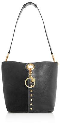 See by Chloe Gaia Suede & Leather Shoulder Bag