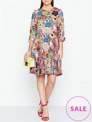 Paul Smith Enso Floral Print Pleated Dress