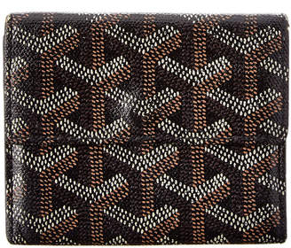 Goyard Black Goyardine Canvas Coin Purse Wallet