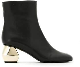 Emporio Armani ornamental heel boots