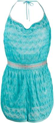 Missoni Mare embroidered fitted playsuit