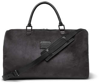 Andersons Anderson's Medium Suede And Full-Grain Leather Holdall