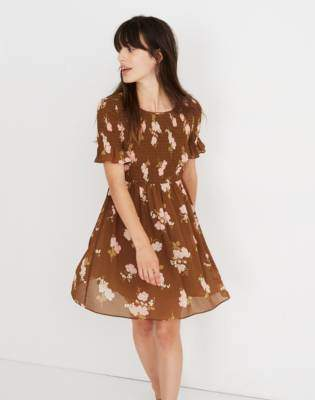 Madewell Smocked-Top Dress in Retro Bouquet