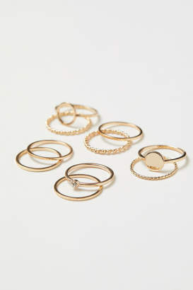 H&M 10-pack Rings - Gold
