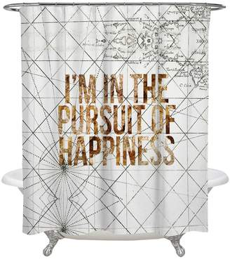 Oliver Gal Pursuit of Happiness Shower Curtain