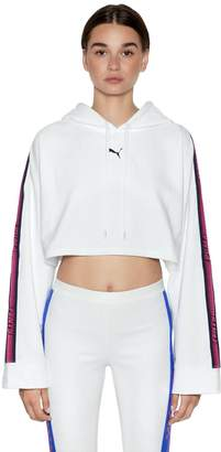 FENTY PUMA by Rihanna Since 1988 Hooded Cotton Crop Sweatshirt