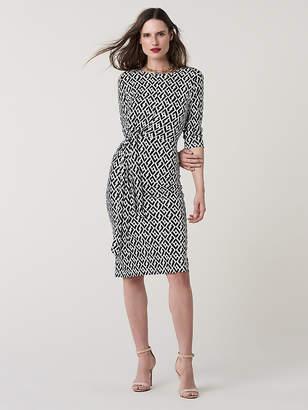 Diane von Furstenberg Pearl Silk Jersey Knee-Length Dress