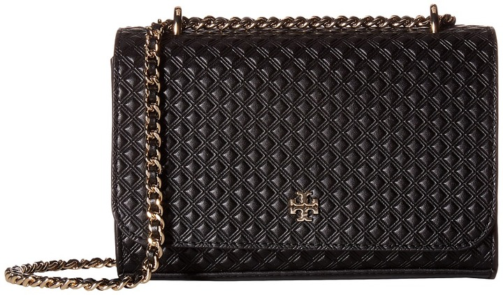 Tory Burch Tory Burch Marion Embossed Shrunken Shoulder Bag