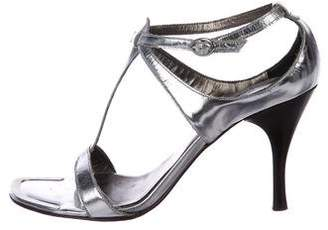 15c15d5753b Pre-Owned at TheRealReal · Donald J Pliner Metallic Ankle Strap Sandals
