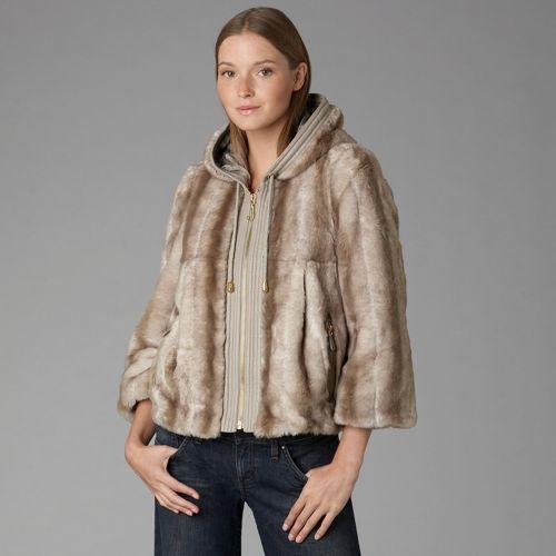 Juicy Couture Faux-Fur Hoodie Coat