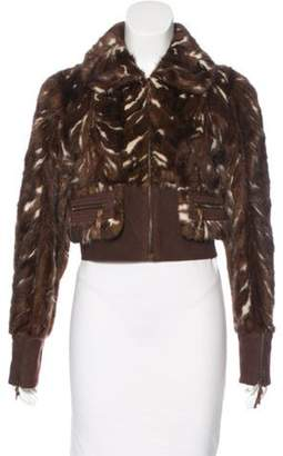 Marni Mink Bomber Jacket Brown Mink Bomber Jacket