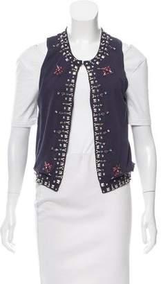 Etoile Isabel Marant Silk Embellished Cardigan