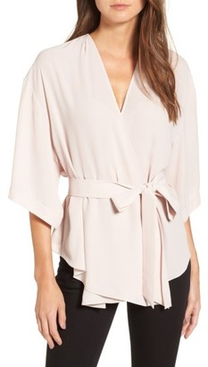Women's Trouve Wrap Blouse $69 thestylecure.com