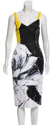 Prabal Gurung Abstract Print Midi Dress w/ Tags