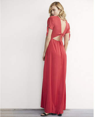Express Karlie Kloss Solid Maxi Dress $88 thestylecure.com