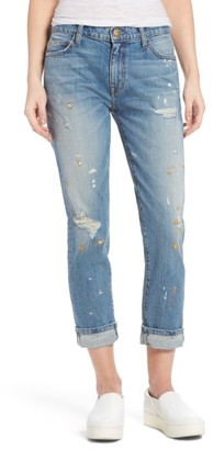 Women's Current/elliott Fling Distressed Rolled Jeans $248 thestylecure.com