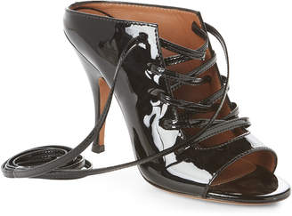 Givenchy Black Patent Lace Sandals