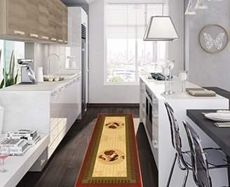Ottomanson Siesta Collection Kitchen Rooster Design (Machine-Washable/Non-Slip) Runner Rug