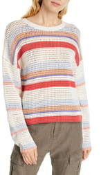 Joie Diza Stripe Cotton Sweater