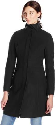 Via Spiga Women's Funnel-Neck Wool-Blend Coat No