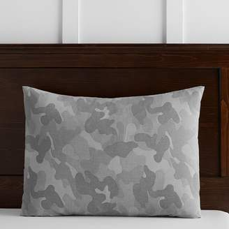 Pottery Barn Teen Distressed Camo Sham, Standard, Gray