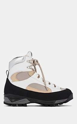 Diemme Women's Civetta Mixed-Material Lace-Up Boots - Light Gray