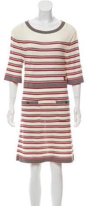 Chanel Striped Wool Dress