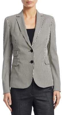Akris Punto Striped Denim Blazer