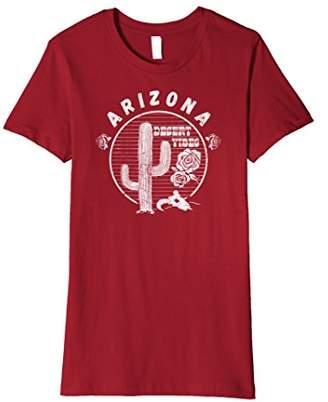 Arizona Desert Vibes Cactus Flowers Graphic Premium T-Shirt