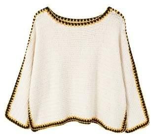 MANGO Trims crochet sweater