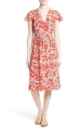 Women's Rebecca Taylor Cherry Blossom Silk Wrap Dress $475 thestylecure.com