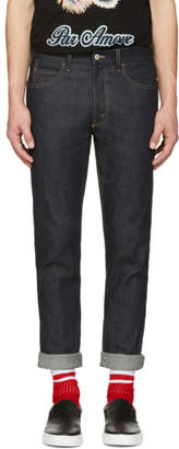 Gucci Indigo Slim Tiger Jeans