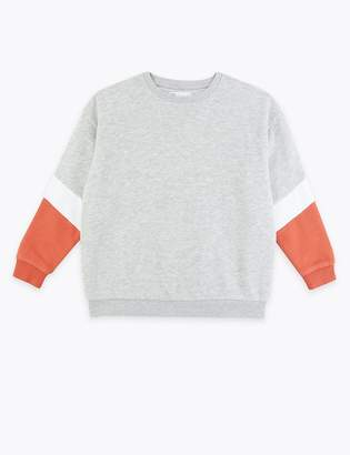 Marks and Spencer Colour Block Sweatshirt (3-16 Years)