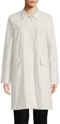 Eileen Fisher Organic Cotton-Blend Classic Collar Jacket