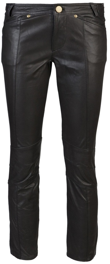 10 Crosby By Derek Lam Cropped leather trouser